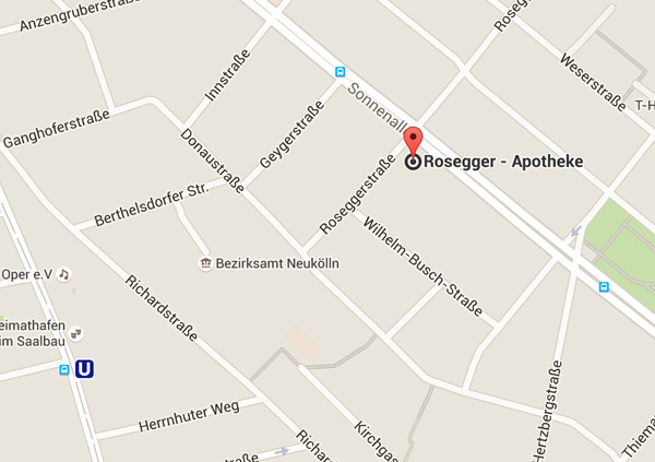 Rosegger-Apotheke, Berlin, map
